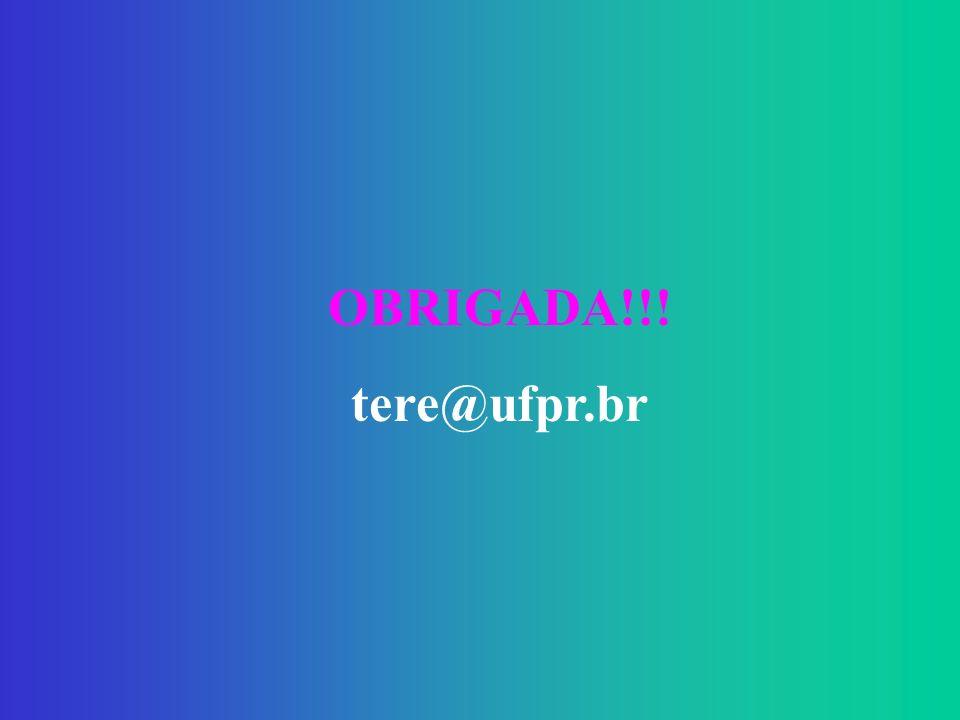 OBRIGADA!!! tere@ufpr.br