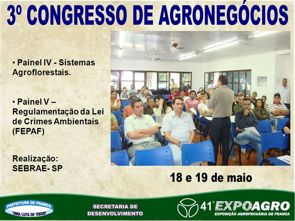 Painel IV - Sistemas Agroflorestais.