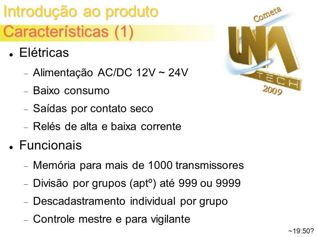 Introdução ao produto Características (1) ~19:50.