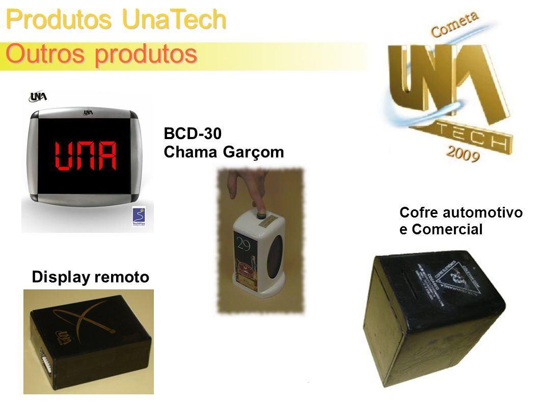 Produtos UnaTech Outros produtos Cofre automotivo e Comercial Display remoto BCD-30 Chama Garçom