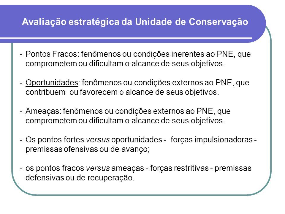 Pontos Fracos: fenômenos ou condições inerentes ao PNE, que comprometem ou dificultam o alcance de seus objetivos. Oportunidades: fenômenos ou condi