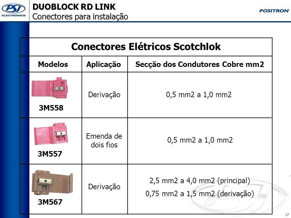 16 DUOBLOCK RD LINK Ferramentas Necessárias MULTÍMETRO ALICATE CRIMPADOR HT230C P/N 010194000 Itens vendidos no canal de suprimentos da Pósitron, Cons