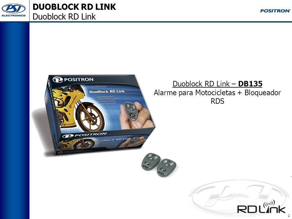 2 Duoblock RD Link – DB135 Alarme para Motocicletas + Bloqueador RDS DUOBLOCK RD LINK Duoblock RD Link