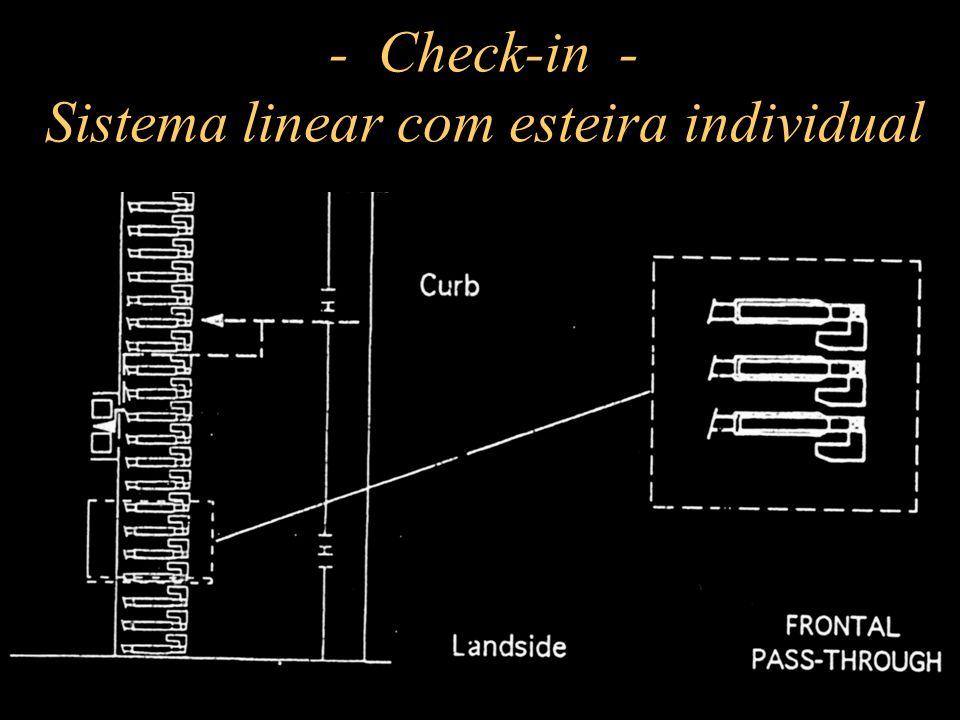 - Check-in - Sistema linear com esteira individual