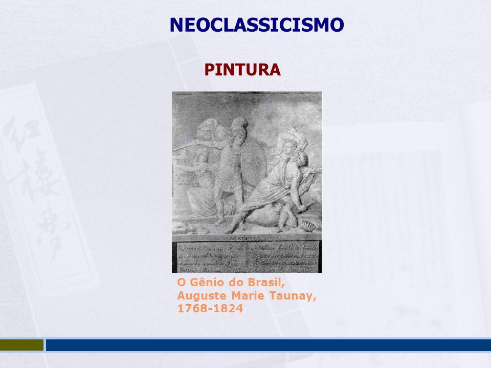 NEOCLASSICISMO PINTURA O Gênio do Brasil, Auguste Marie Taunay, 1768-1824