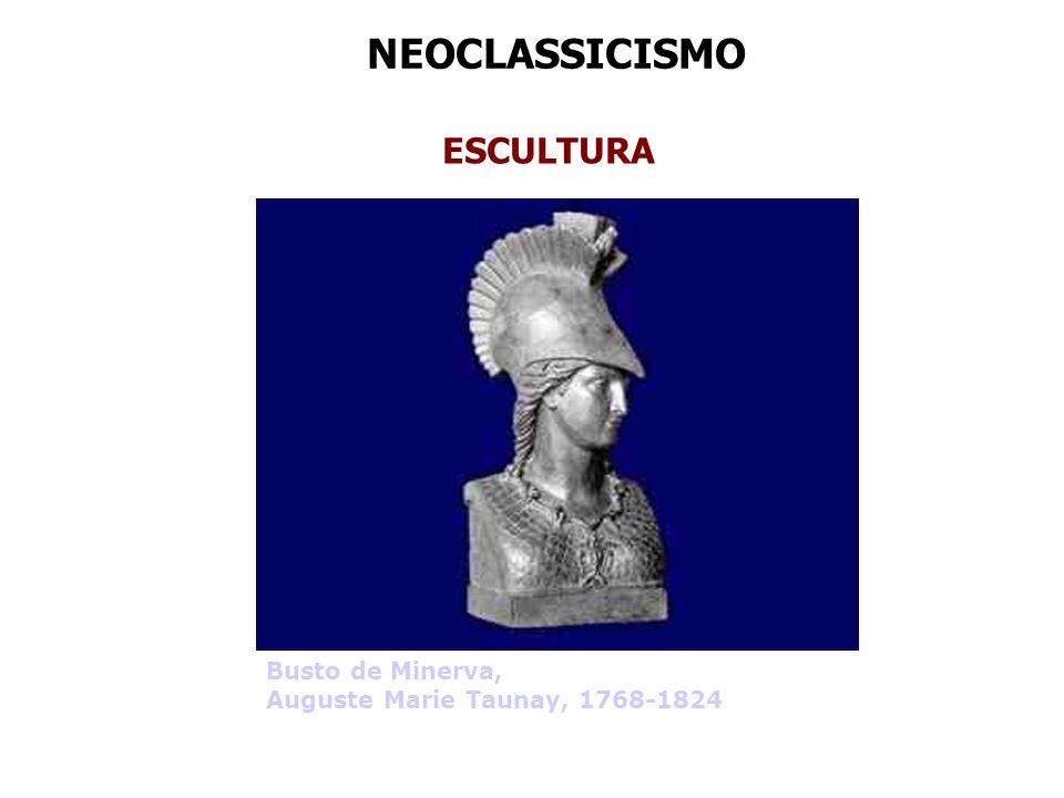 NEOCLASSICISMO ESCULTURA Busto de Minerva, Auguste Marie Taunay, 1768-1824