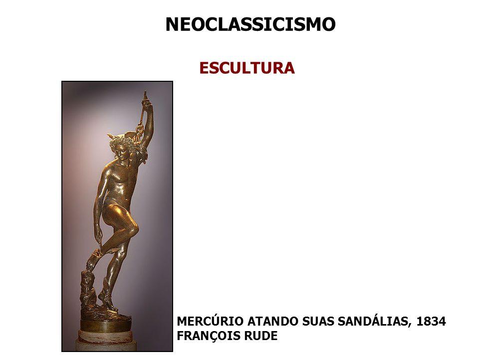 NEOCLASSICISMO ESCULTURA MERCÚRIO ATANDO SUAS SANDÁLIAS, 1834 FRANÇOIS RUDE