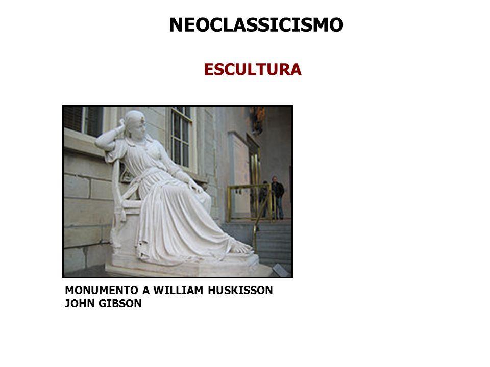 NEOCLASSICISMO ESCULTURA MONUMENTO A WILLIAM HUSKISSON JOHN GIBSON