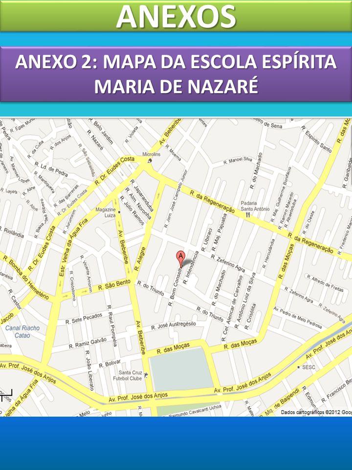 ANEXOSANEXOS ANEXO 2: MAPA DA ESCOLA ESPÍRITA MARIA DE NAZARÉ