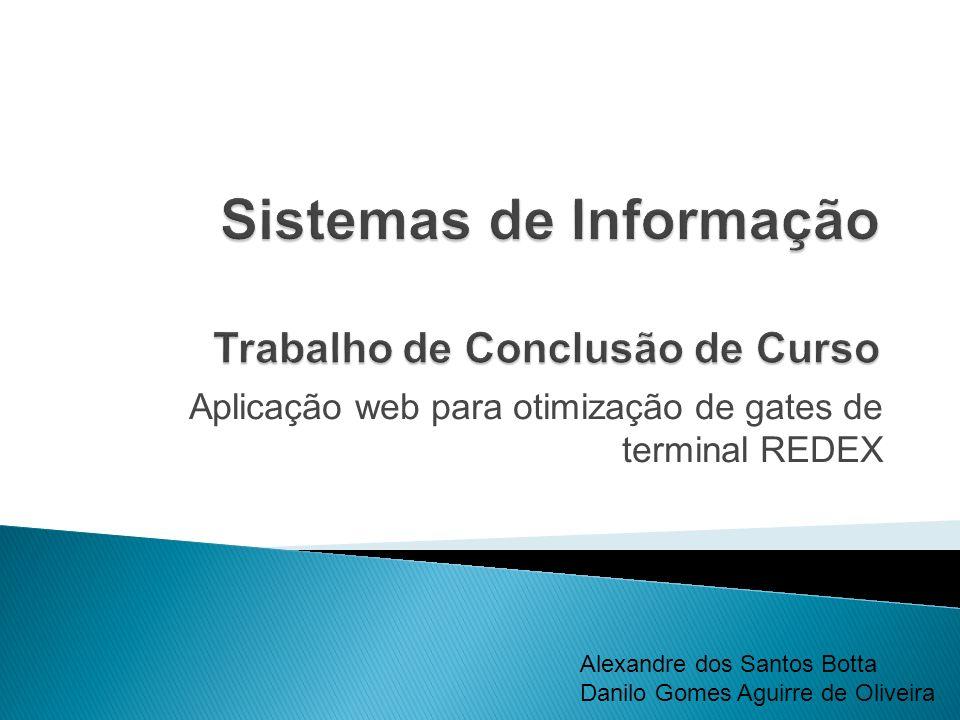 Aplicação web para otimização de gates de terminal REDEX Alexandre dos Santos Botta Danilo Gomes Aguirre de Oliveira