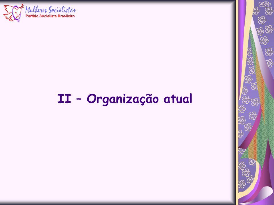 II – Organização atual