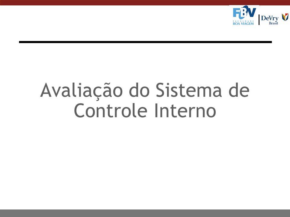 Avaliação do Sistema de Controle Interno