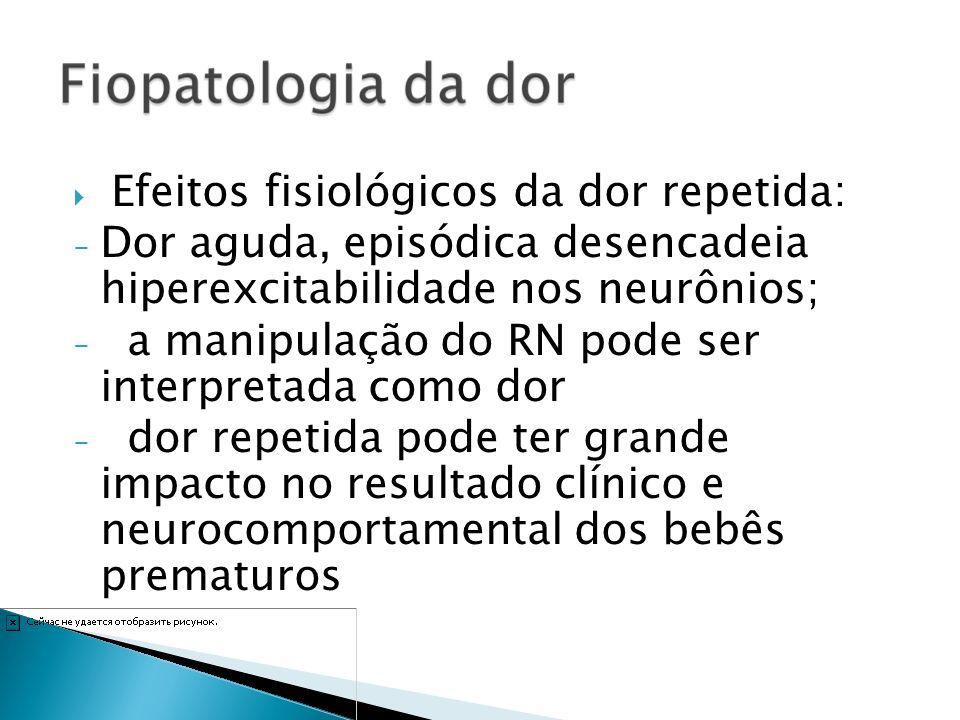 Efeitos fisiológicos da dor repetida: - Dor aguda, episódica desencadeia hiperexcitabilidade nos neurônios; - a manipulação do RN pode ser interpretad