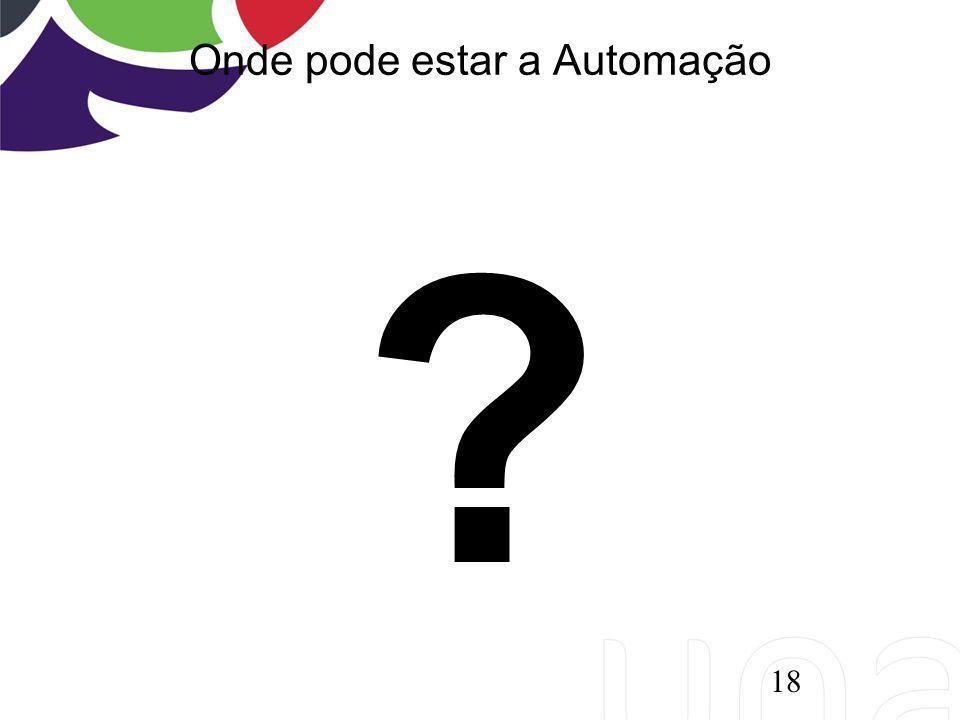 Onde pode estar a Automação ? 18