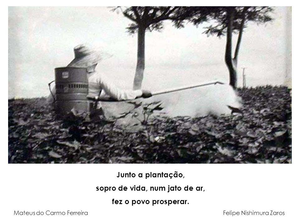 Junto a plantação, sopro de vida, num jato de ar, fez o povo prosperar. Mateus do Carmo Ferreira Felipe Nishimura Zaros