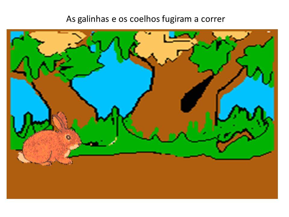 Quando espreitou por cima da cerca, viu um porco, um pato e uma vaca. Estavam a ler sentados ao sol! O lobo nunca tinha visto animais a ler. Os meus o