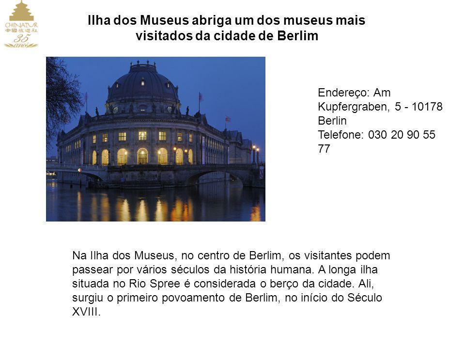 Ilha dos Museus abriga um dos museus mais visitados da cidade de Berlim Endereço: Am Kupfergraben, 5 - 10178 Berlin Telefone: 030 20 90 55 77 Na Ilha dos Museus, no centro de Berlim, os visitantes podem passear por vários séculos da história humana.