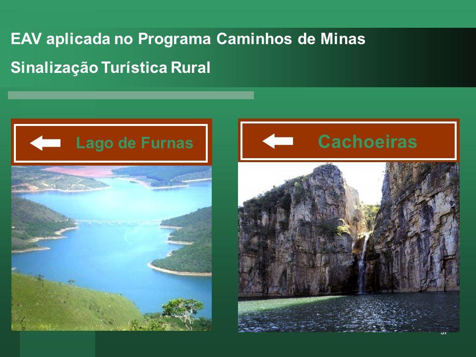EAV aplicada no Programa Caminhos de Minas Sinalização Turística Rural Lago de Furnas Cachoeiras