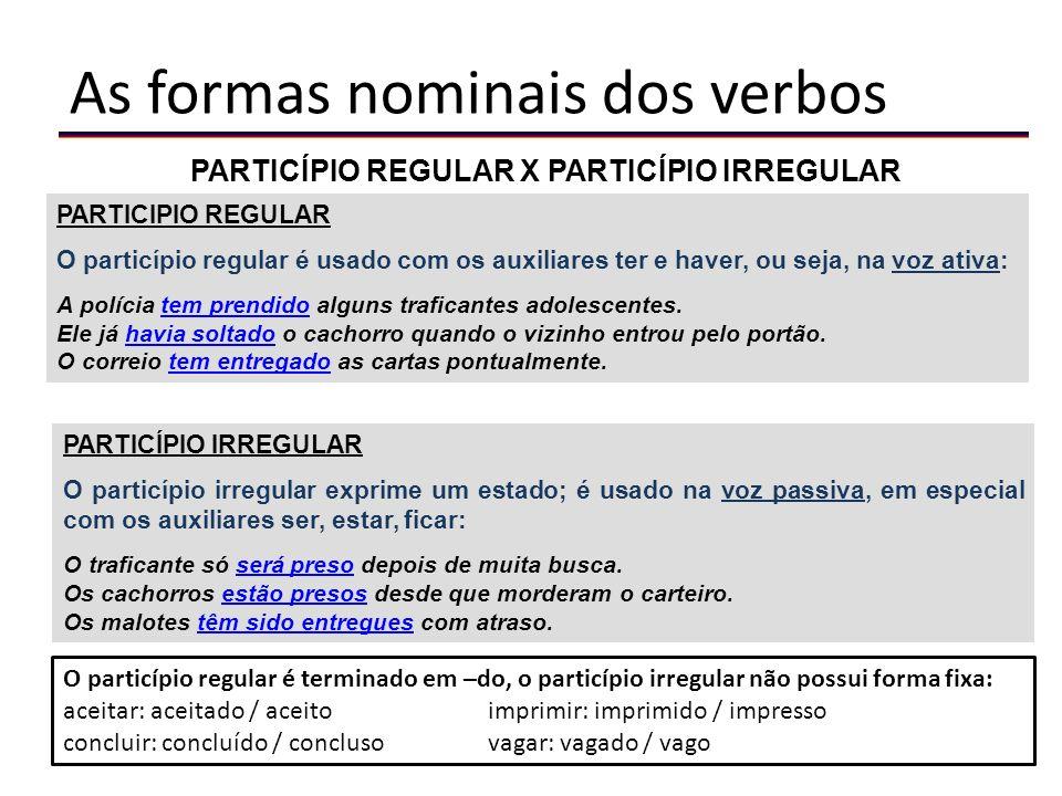 Formação dos tempos compostos Modo Subjuntivo Pretérito Perfeito Presente do subjuntivo do verbo auxiliar, seguido de particípio do verbo principal.