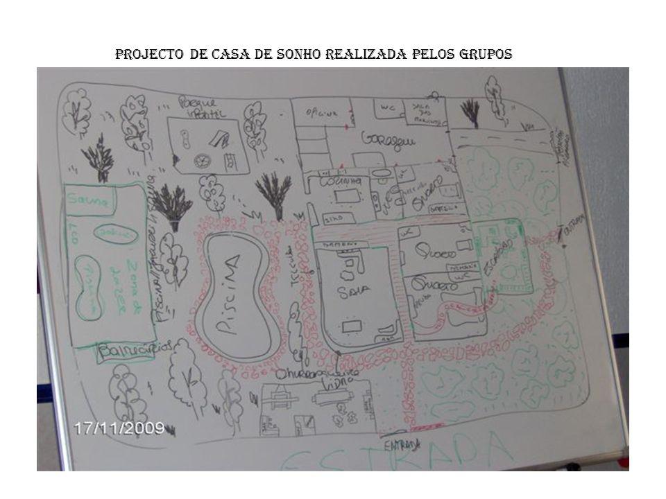 Descrição: Jardins Árvores de todo o tipo de frutas Pinheiros, horta biológica, relva natural Chão do parque infantil e jardim é composto de borracha de automóvel queimado Parque infantil – todos apetrechos são de plástico e madeira reciclada Parque desportivo – multiusos Relva sintética Bancadas – plástico reciclado Garagem Feita de betão Máquinas da sala de tratamento Oficina Piscina Interior e Exterior Parte da frente do anexo em vidro Painéis solares para o aquecimento da água Recuperadores da água da chuva para o uso da piscina, sauna, jacuzzi e balneários Som ambiente, LCD Sensores de luz Extras adicionados após a apresentação da casa Zona de reciclagem Estação de tratamento de águas residuais Zona de reaproveitamento na sala das máquinas Sistema de protecção da piscina No parque infantil é tudo reciclado – reutilizável e reutilizado Filtros para filtragem dos fumos Cozinha Chão da cozinha – tijoleira Azulejos até ao tecto Bancadas – em granito preto Móveis – em faia Portas interiores – com vidros Electrodomésticos encastrados nas bancadas Aguas aquecidas em painéis solares Casas de Banho Móvel em faia com mármore branco com dois lavabos Loiças brancas Banheira de hidromassagem Azulejos até ao tecto – tons azulado Mosaico a condizer Sala Piso flutuante aquecido Aquecimento pedra de granito Vidros inquebráveis espelhados Cortinas blackout aplicadas em sistema eléctrico Sofá de água Luzes no tecto reguladoras Escritório Área natural feita de árvores Janelas em plástico de soja Interiores de madeira Estrutura exterior de material orgânico Plantas a cobrir o restante exterior Sala de comandos