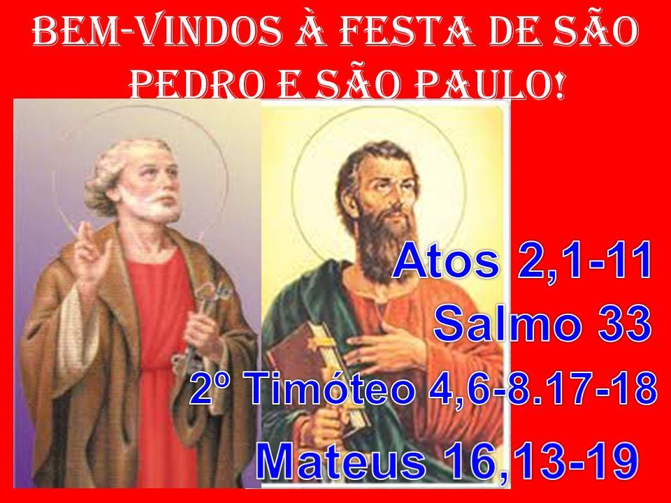 salmo responsorial: (33) 2- Comigo engrandecei ao Senhor Deus, exaltemos todos juntos o seu nome!/ Todas as vezes que o busquei, ele me ouviu/ e de todos os temores me livrou.