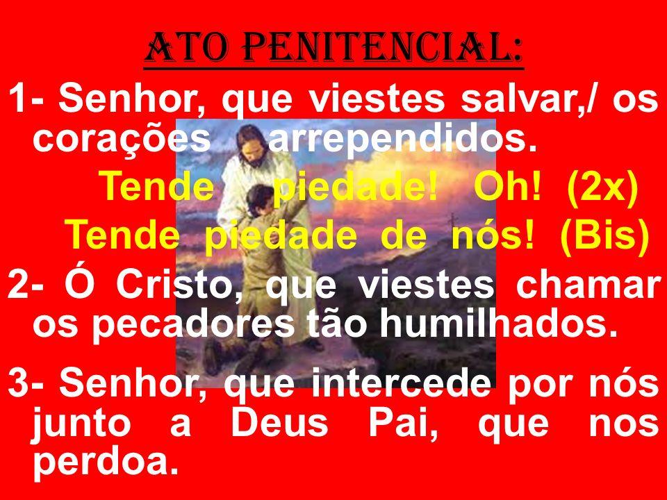 ORAÇÃO EUCARÍSTICA: (II) PADRE: Celebrando, pois, a memória da Morte e Ressurreição do vosso Filho, nós vos oferecemos, ó Pai, o Pão da vida e o Cálice da Salvação; e vos agradecemos porque nos tornastes dignos de estar aqui em vossa presença e vos servir.