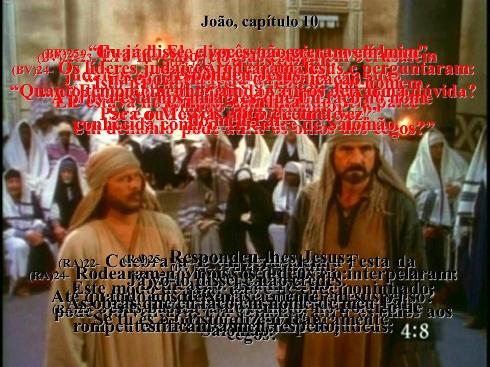 (BV)19- Quando Ele disse estas coisas, os líderes judaicos se dividiram novamente em suas opiniões a respeito dele.