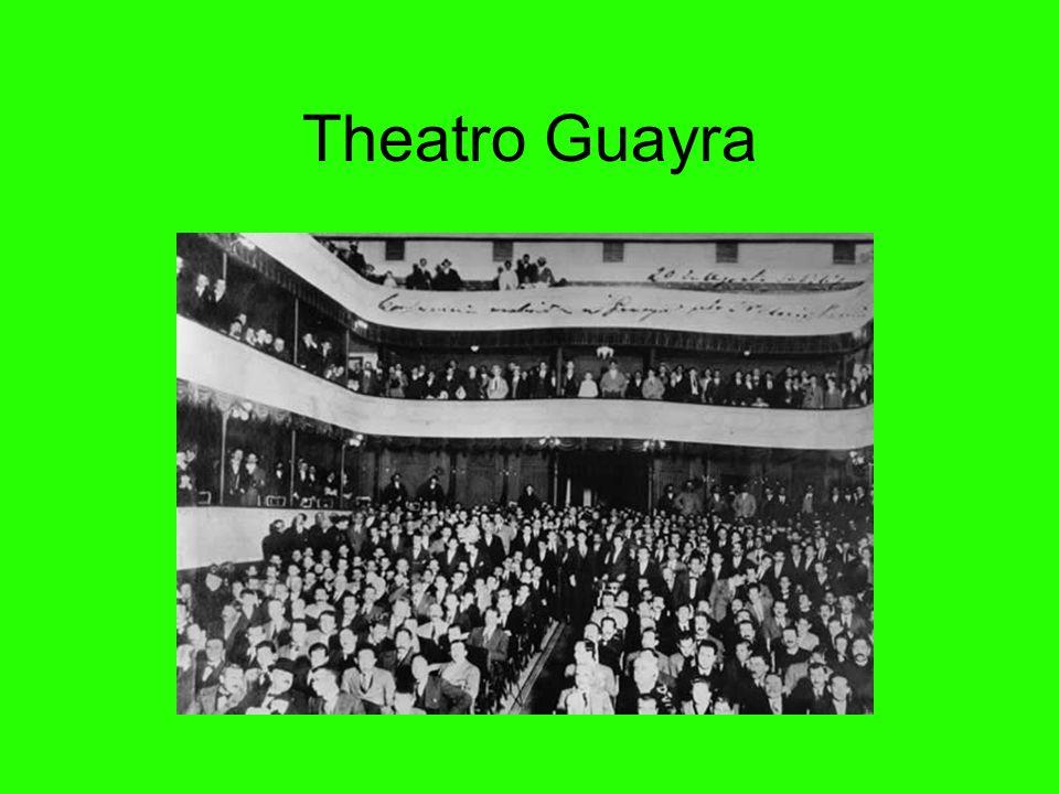 Theatro Guayra O primeiro teatro de Curitiba foi o Theatro São Theodoro, situado na rua Nova (hoje Dr. Muricy) onde fica a Biblioteca Pública. Foi ref
