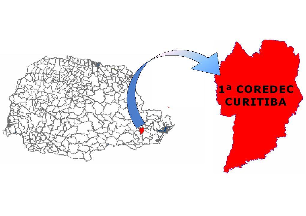 1 ª COREDEC CURITIBA 3º SGB CURITIBA CABRAL 2º SGB CURITIBA PORTÃO 1º SGB CURITIBA CENTRO
