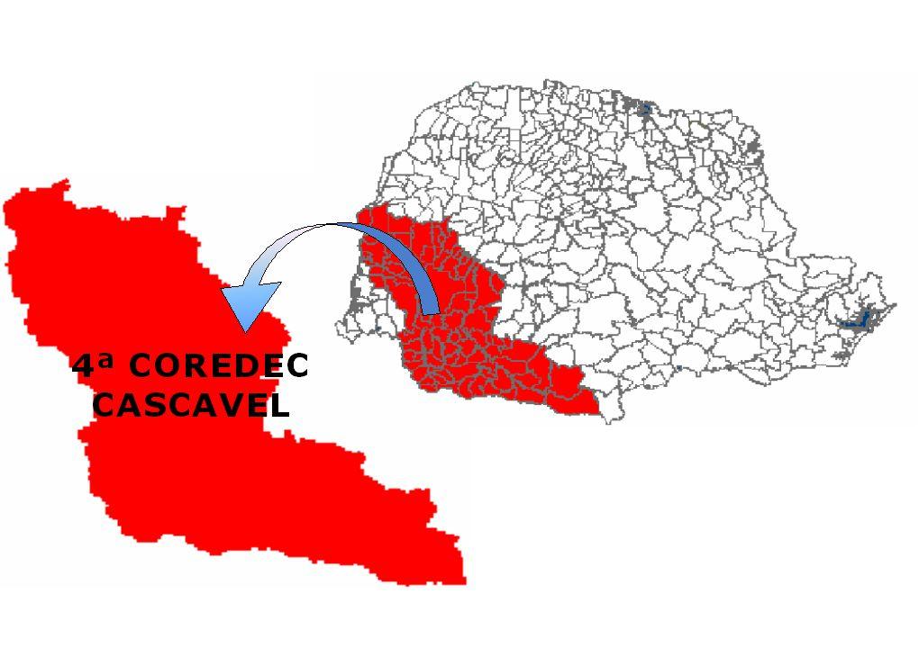 4ª COREDEC CASCAVEL 1º SGB CASCAVEL 2º SGB TOLEDO 3º SGB PATO BRANCO