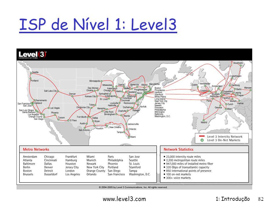 1: Introdução ISP de Nível 1: Level3 www.level3.com 82