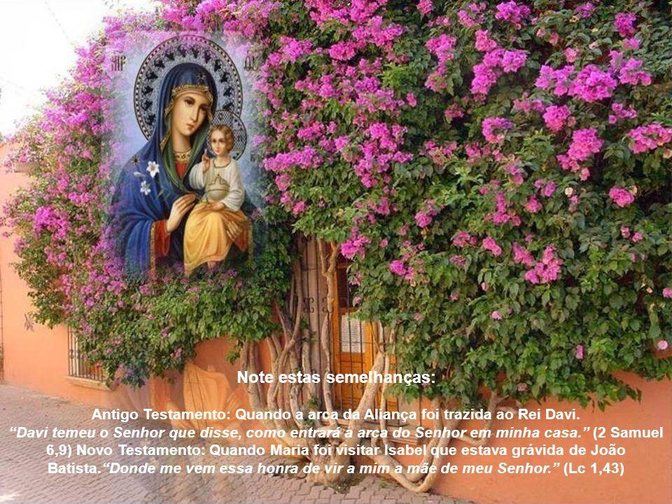 A Arca da Antiga Aliança era o lugar de propriedade para os Dez Mandamentos que eram a palavra de Deus. Na Bíblia, São João chama Jesus como a palavra