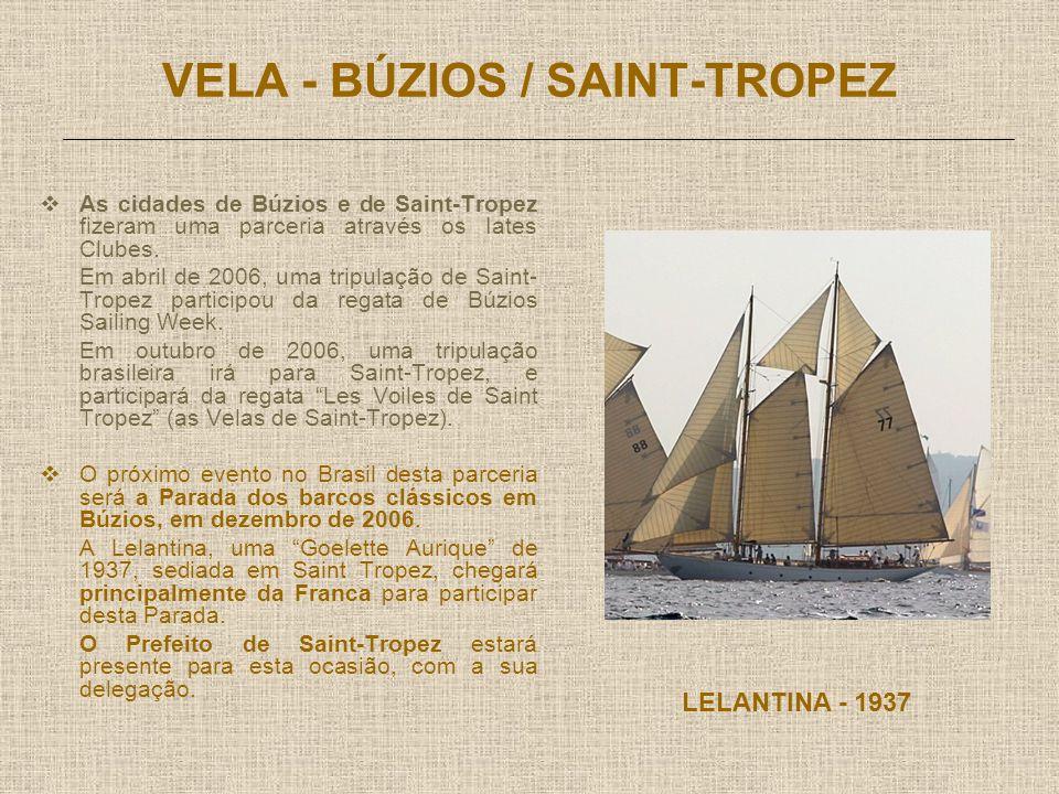 VELA - BÚZIOS / SAINT-TROPEZ As cidades de Búzios e de Saint-Tropez fizeram uma parceria através os Iates Clubes.