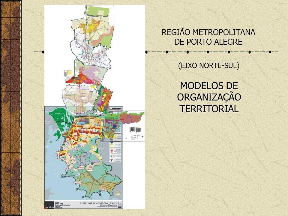 REGIÃO METROPOLITANA DE PORTO ALEGRE MODELOS DE ORGANIZAÇÃO TERRITORIAL (EIXO NORTE-SUL)
