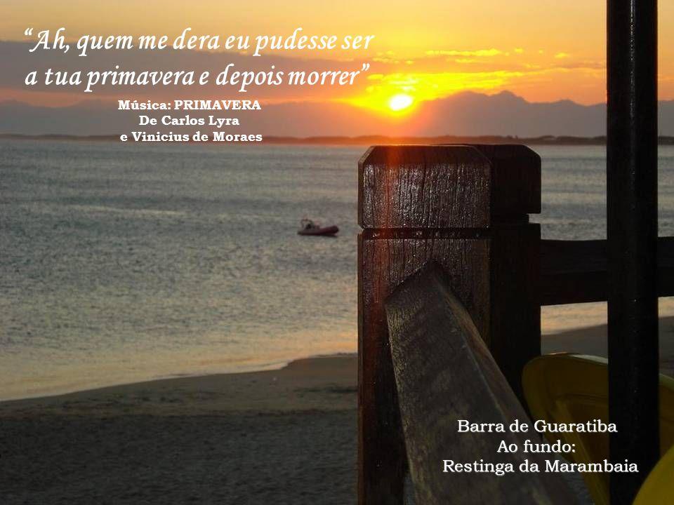 Barra de Guaratiba Ao fundo: Restinga da Marambaia Saboroso é o nosso amor : fruta boa Coração é o quintal da pessoa Música: FRUTA BOA De Milton Nasci
