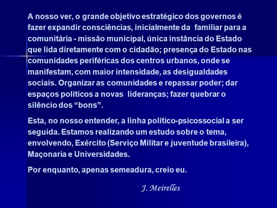 O maior povo do mundo, em magnanimidade, alegria e criatividade – o brasileiro, tem um espírito nacional ainda imaturo, infantil. Não se congrega para