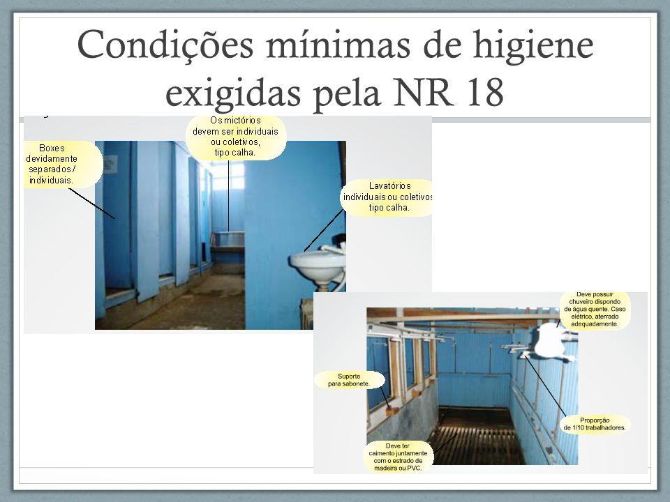Condições mínimas de higiene exigidas pela NR 18