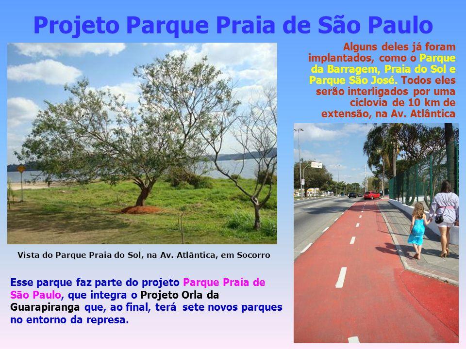 Projeto Parque Praia de São Paulo Vista do Parque Praia do Sol, na Av.