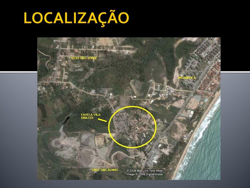 Parte alta da favela: