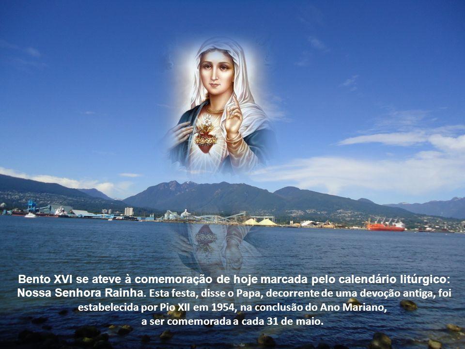 22 de agosto de 2012 Como todas as quartas-feiras, o Santo Padre recebeu para audiência geral um numeroso e alegre grupo de fiéis oriundos de várias partes do mundo, inclusive do Brasil.