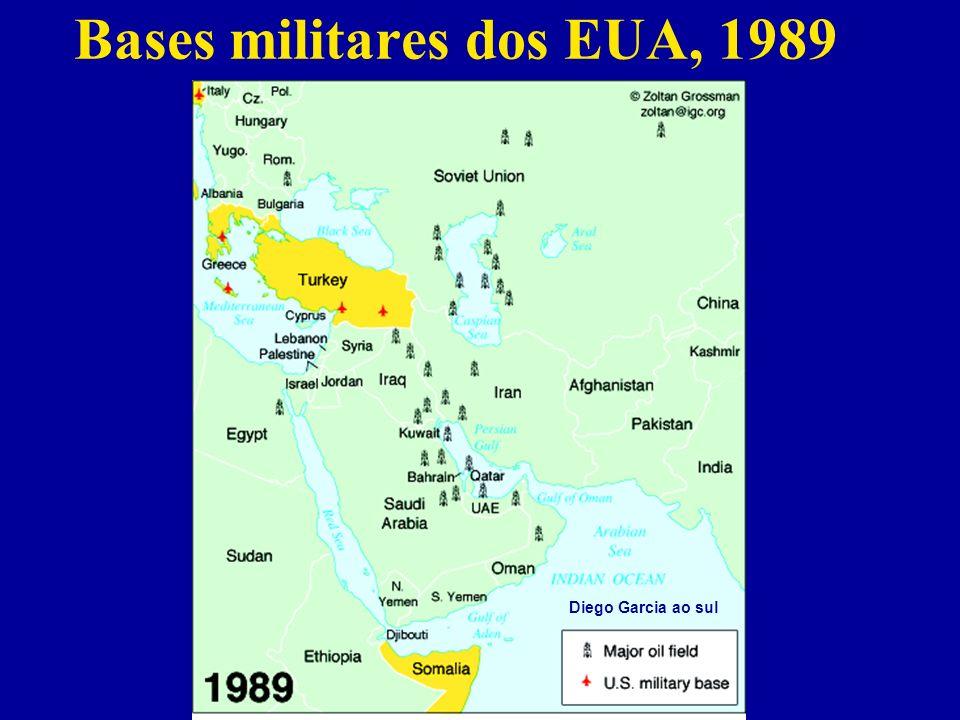 Bases militares dos EUA, 1989 Diego Garcia ao sul
