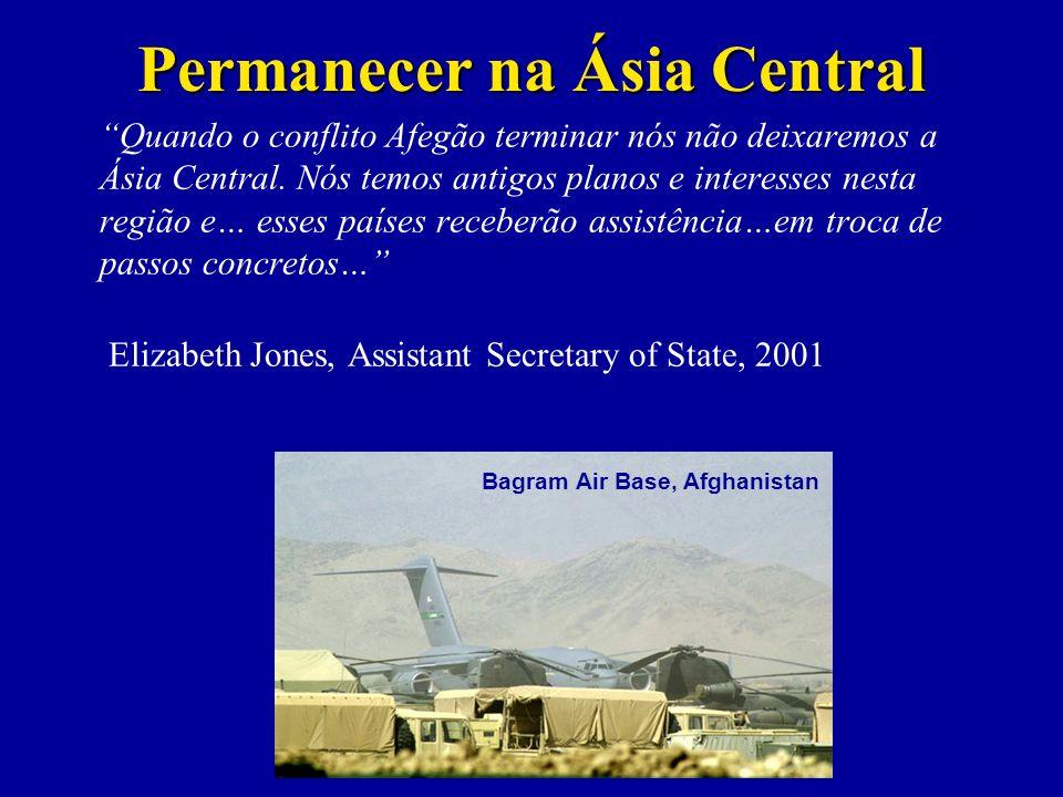 Quando o conflito Afegão terminar nós não deixaremos a Ásia Central.