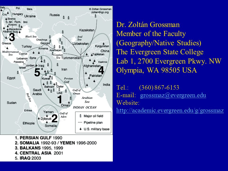 Dr. Zoltán Grossman Member of the Faculty (Geography/Native Studies) The Evergreen State College Lab 1, 2700 Evergreen Pkwy. NW Olympia, WA 98505 USA