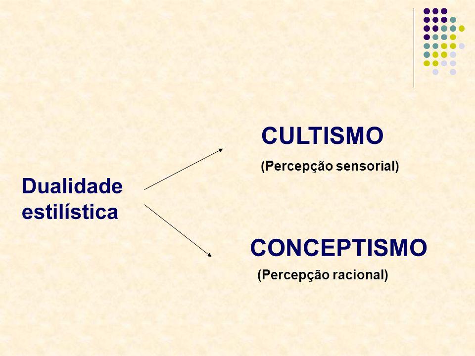 Dualidade estilística CULTISMO (Percepção sensorial) CONCEPTISMO (Percepção racional)