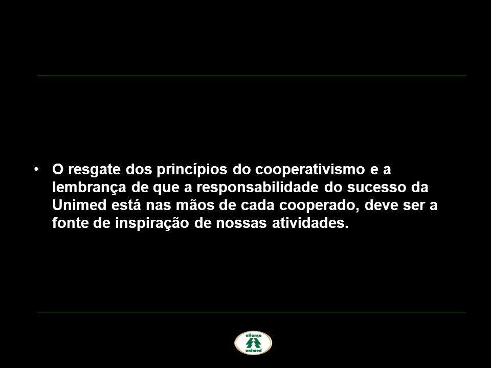 O resgate dos princípios do cooperativismo e a lembrança de que a responsabilidade do sucesso da Unimed está nas mãos de cada cooperado, deve ser a fo