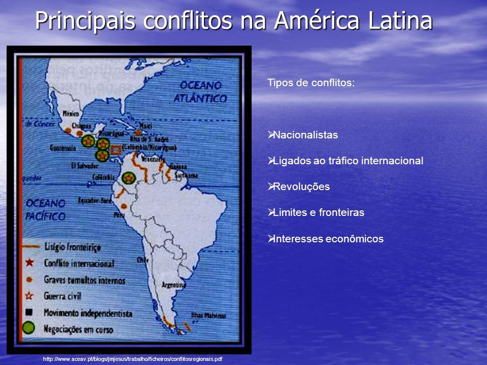 NACIONALISMO NACIONALISMO Os conflitos internacionais ocorrem agora com mais freqüência no interior dos próprios Estados, em resultado de rupturas que se desenvolvem num contexto nacionalista, de defesa de uma cultura, língua, religião ou território.
