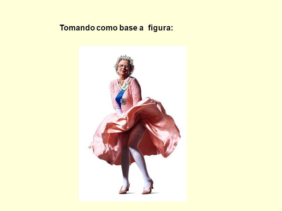 Podemos observar que houve uma inequívoca tentativa de brincar com dois ícones modernos: a Rainha da Inglaterra e Marlyn Monroe.