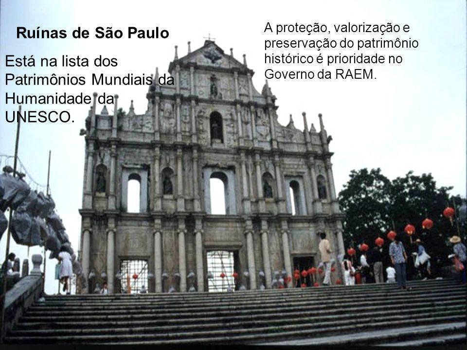 A proteção, valorização e preservação do patrimônio histórico é prioridade no Governo da RAEM.