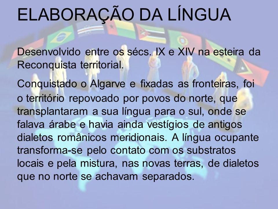 EXPANSÃO DA LÍNGUA A transferência do poder para o centro do reino, com a capital em Lisboa, fez que a partir do séc.