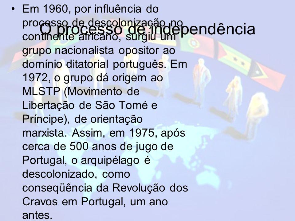 O processo de independência Em 1960, por influência do processo de descolonização no continente africano, surgiu um grupo nacionalista opositor ao domínio ditatorial português.
